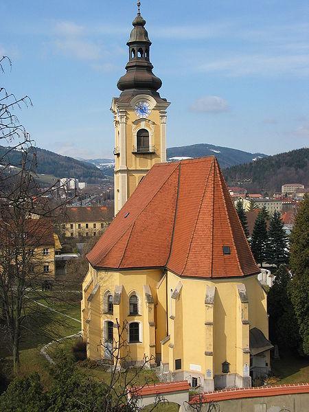 Crkva Sv. Jakoba u Leobenu - jednom od prvih naselja sa statusom grada u Austriji