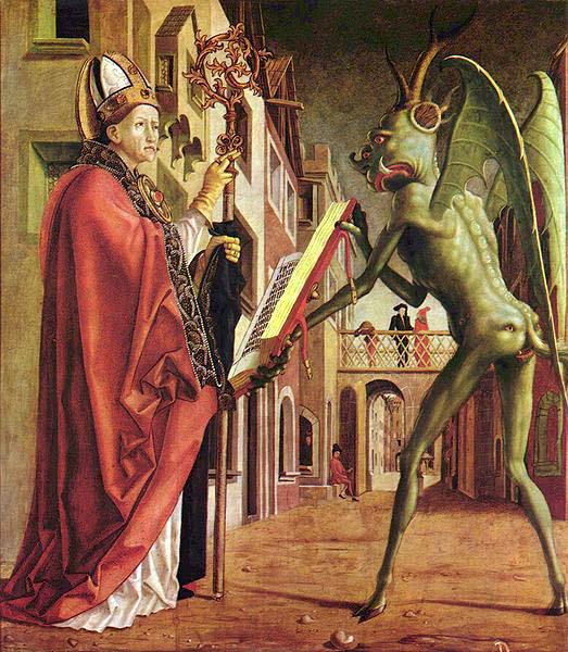 Crkveni otac Augustin in đavo - djelo jednog od poznatijih austrijskih srednjovijekovnih umjetnika Michaela Pachera