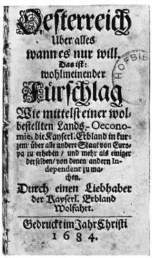 »Austrija iznad svega, samo ako je njoj po volji« (1684.)