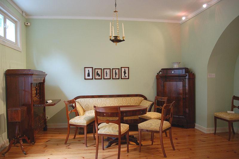 Dnevna soba u stilu bidermajera