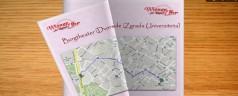 Interaktivna knjiga karti s ucrtanim znamenitostima Beča